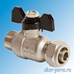 Кран для металлопластиковых труб 16х1/2″ VЕRTUM Ц-НР