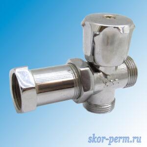 Кран для стиральной машины трехпроходной VERTUM 20х20х20 г/ш/ш вентиль