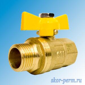 Кран шаровой газ 15 STI бабочка г/ш
