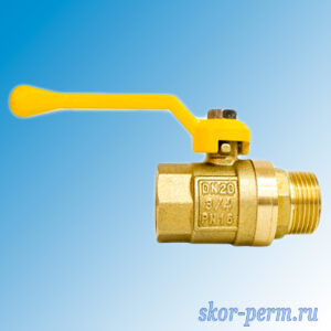 Кран шаровой газ 20 STI рычаг г/ш