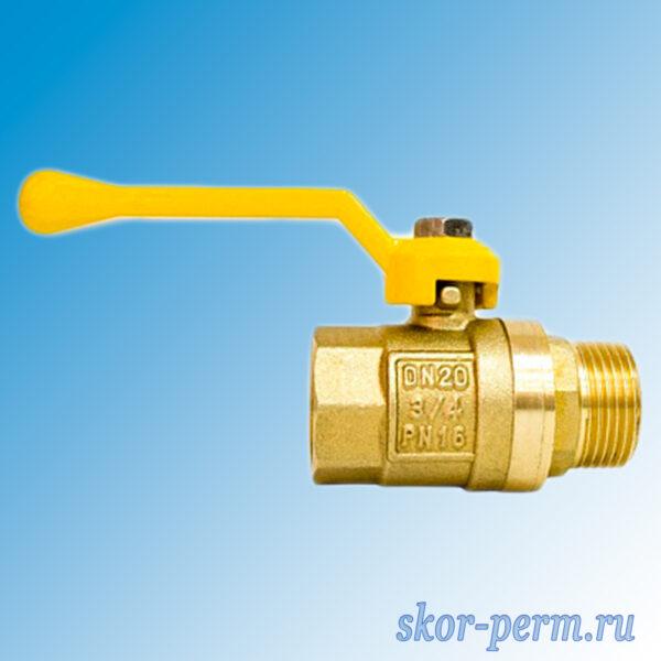 Кран шаровой газовый STI рычаг
