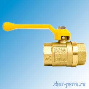Кран шаровой газ 25 STI рычаг г/г