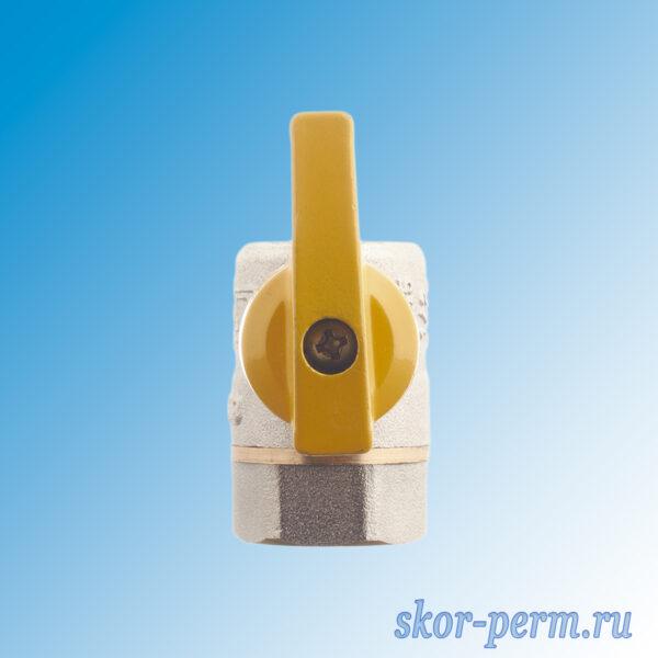 Кран газовый шаровой СТМ 15 угловой бабочка