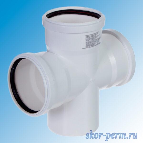 Крестопина полипропиленовая канализационная 110х110х110/87° бесшумная