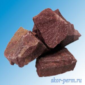 Камни для банных печей КВАРЦИТ МАЛИНОВЫЙ (20 кг)