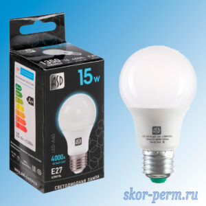 Лампа LED Е27 15Вт 4000К ASD