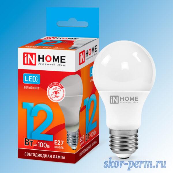 Лампа LED Е27 12Вт 4000К IN HOME
