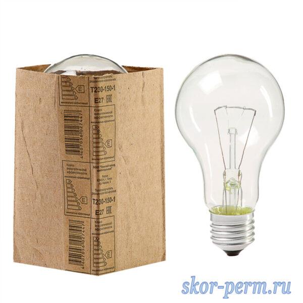 Лампа накаливания А50 Е27 150Вт