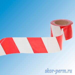 Лента оградительная ЛО-100, 75 мм (красно-белая)