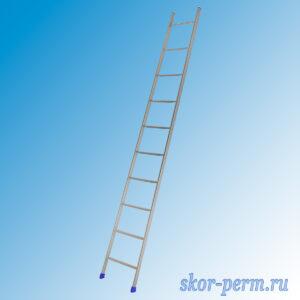 Лестница приставная 10 ступеней, h=245 см