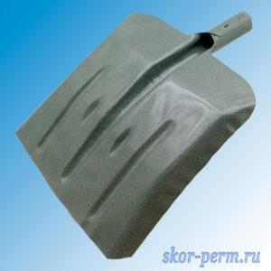 Лопата снеговая усиленная ЛСУ 390х370 стальная, без черенка
