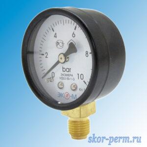 Манометр МП50 10 бар G1/4″ (радиальный)