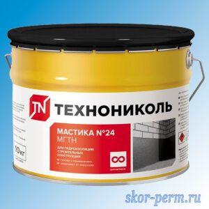 Мастика №24 ТЕХНОНИКОЛЬ для гидроизоляции, 10 кг