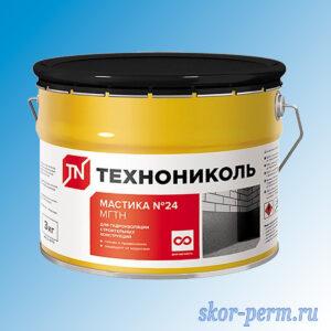 Мастика №24 ТЕХНОНИКОЛЬ для гидроизоляции, 3 кг