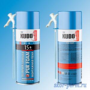 Пена монтажная KUDO HOME 15+ бытовая (от -10 до +35°С) 520 мл