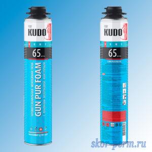 Пена монтажная KUDO HOME 65 профессиональная всесезонная (от -10 до +35 °С) 1000 мл
