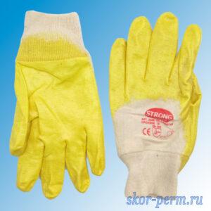 Перчатки хлопчатобумажные с латексным покрытием лайт