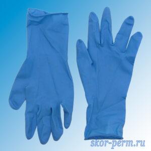 Перчатки резиновые латекс.