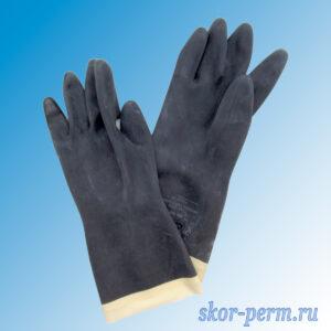 Перчатки резиновые технические КЩС, тип 1