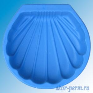 """Песочница пластиковая """"Ракушка"""" без крышки синяя"""
