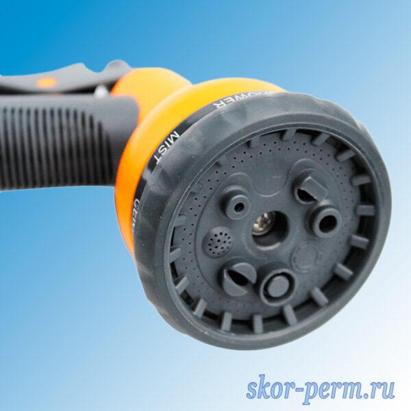 Пистолет-душ поливочный курковый быстросъемный 8 режимов