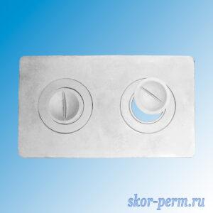 Плита очажная 2 конфорочная П2-1 малая (340х580 мм)