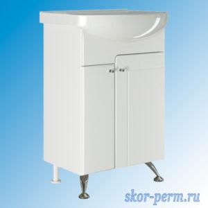 Подстолье для ванной «ПОСЕЙДОН-55» (под умывальник Уют-55, ПВХ)
