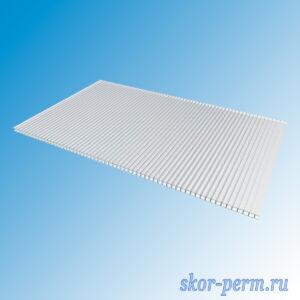 Поликарбонат сотовый 4 мм 0,52кг/м2 2,1х6,0 м прозрачный