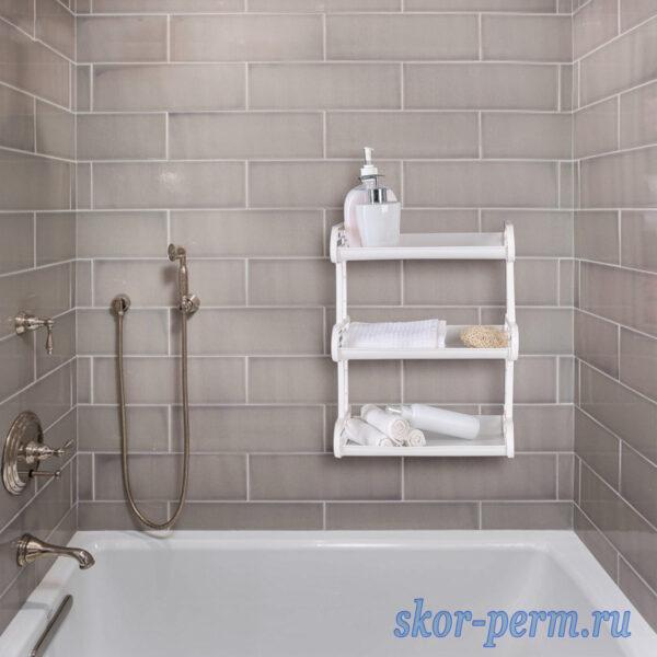 Полка для ванны 32х17,2х42 см 3х ярусная пластиковая