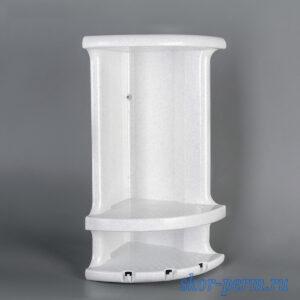 Полка для ванной комнаты угловая пластиковая