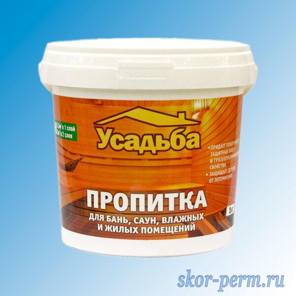 Пропитка для бань и саун УСАДЬБА У-409 1,0 кг