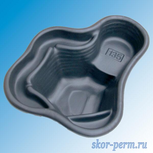 Чаша для пруда пластиковая 135 л черная
