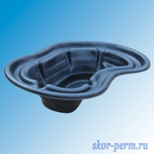 Чаша для пруда пластиковая 140 л черная