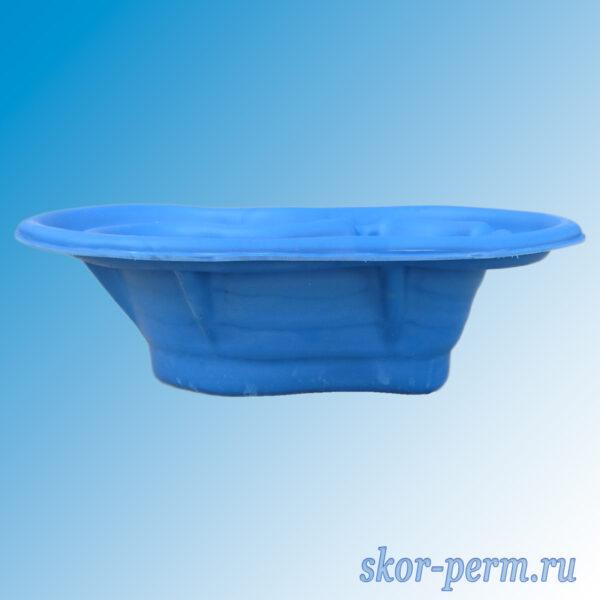 Чаша для пруда пластиковая 140 л синяя