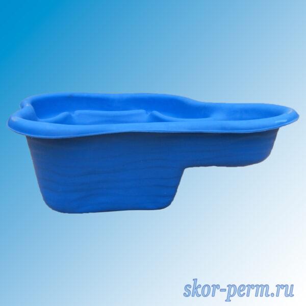 Чаша для пруда пластиковая 150 л синяя
