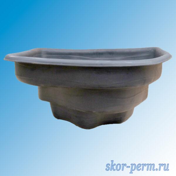 Чаша для пруда пластиковая 180 л черная