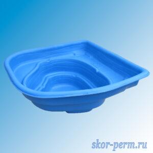 Чаша для пруда пластиковая 180 л синяя