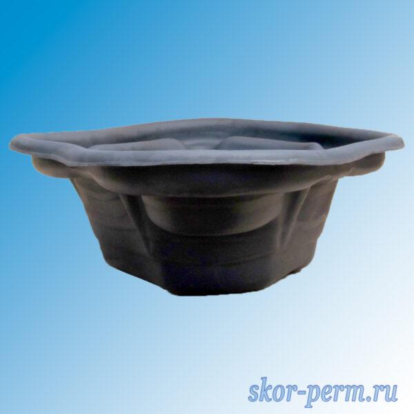 Чаша для пруда пластиковая 190 л черная