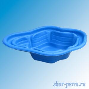 Чаша для пруда пластиковая 190 л синяя