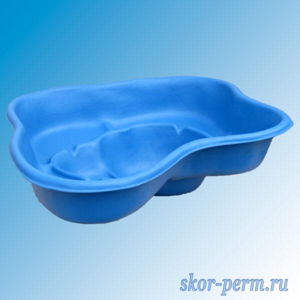 Чаша для пруда пластиковая 200 л синяя
