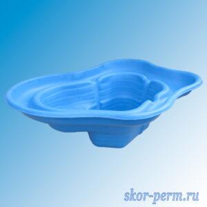 Чаша для пруда пластиковая 270 л синяя