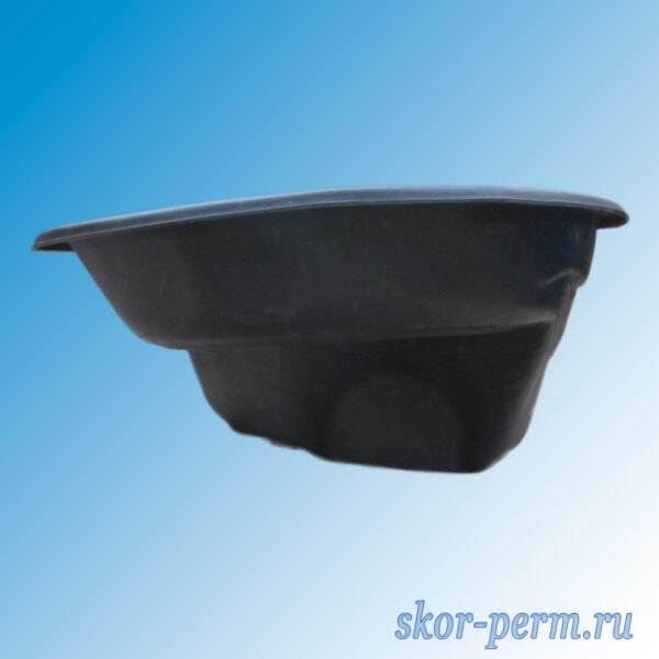 Чаша для пруда пластиковая 380 л черная