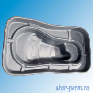 Чаша для пруда пластиковая 420 л черная