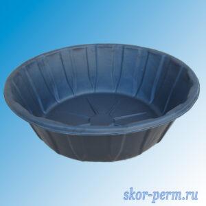 Чаша для пруда пластиковая 480 л черная