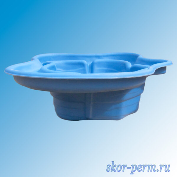 Чаша для пруда пластиковая 500 л синяя