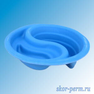 Чаша для пруда пластиковая 60 л синяя