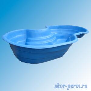 Чаша для пруда пластиковая 640 л синяя