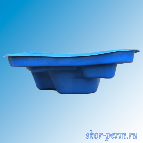 Чаша для пруда пластиковая 750 л синяя