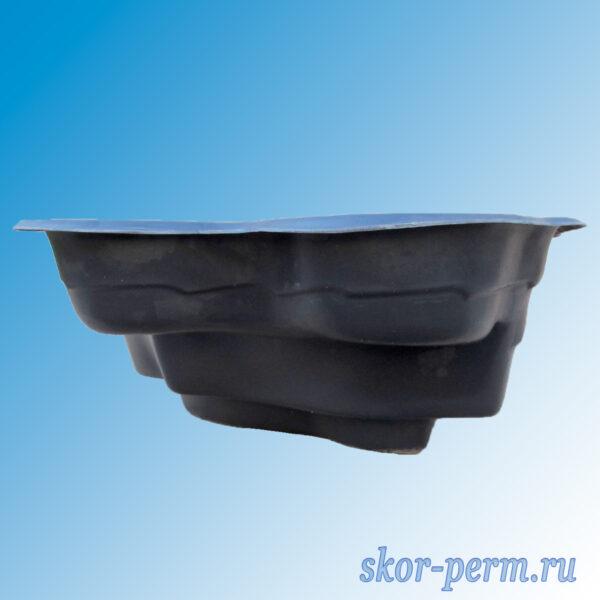 Чаша для пруда пластиковая 900 л черная