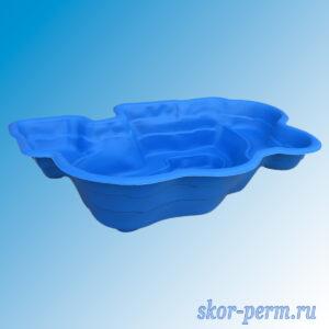 Чаша для пруда пластиковая 900 л синяя